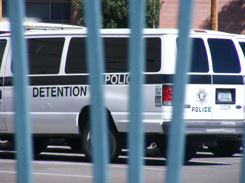 Las Vegas Detention Center Inmate Search - Detention Center Police Van