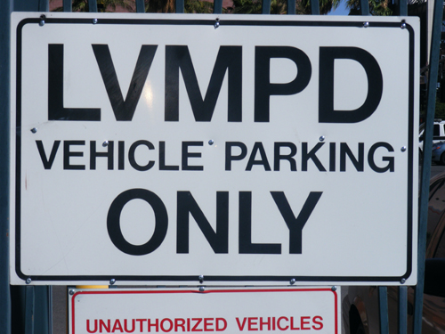 Las Vegas Detention Center Inmate Search - LVMPD Vehicle Parking Only Sign